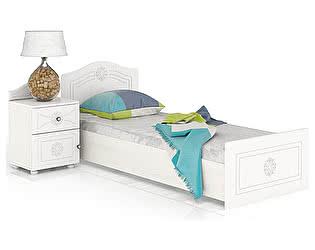 Купить кровать Мебельный Двор Онега КР-800БЯ + ТП-1 с тумбой