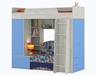 Купить кровать Mobi Тетрис 1 МС 366 с диваном, цвет дуб белый/капри/ткань Арт. 02