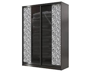 Купить шкаф Мэри-Мебель Сан-Ремо СР-01-1600 стекло черный глянец