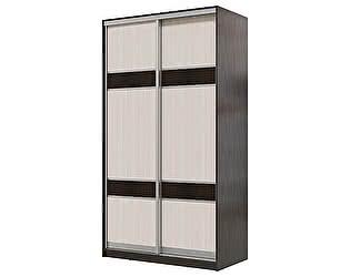 Купить шкаф Мэри-Мебель Мэри Де-Люкс 1200 2-х дверный, цвет дуб венге/двери № 3