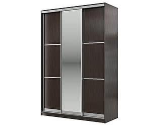 Купить шкаф Мэри-Мебель Мэри Де-Люкс 1500 3-х дверный, цвет дуб венге/двери № 5