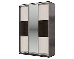 Купить шкаф Мэри-Мебель Мэри Де-Люкс 1500 3-х дверный, цвет дуб венге/двери № 6