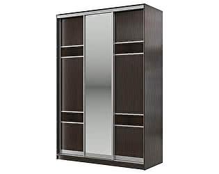 Купить шкаф Мэри-Мебель Мэри Де-Люкс 1500 3-х дверный, цвет дуб венге/двери № 7