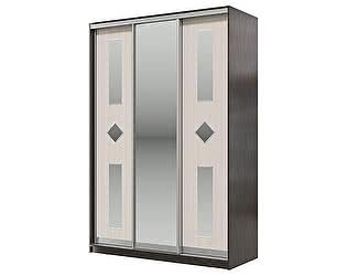Купить шкаф Мэри-Мебель Мэри Де-Люкс 1500 3-х дверный, цвет дуб венге/двери № 8