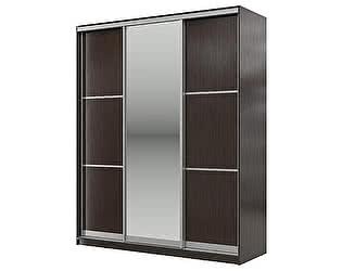 Купить шкаф Мэри-Мебель Мэри Де-Люкс 1800 3-х дверный, цвет дуб венге/двери № 5