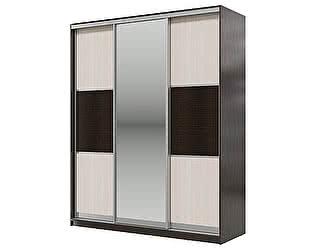 Купить шкаф Мэри-Мебель Мэри Де-Люкс 1800 3-х дверный, цвет дуб венге/двери № 6