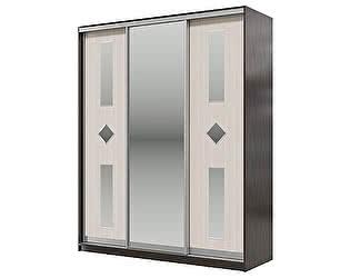 Купить шкаф Мэри-Мебель Мэри Де-Люкс 1800 3-х дверный, цвет дуб венге/двери № 8