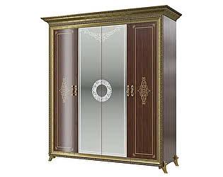 Купить шкаф Мэри-Мебель Версаль СВ-01 № 3 4-х дверный (без короны)