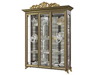 Купить шкаф Мэри-Мебель Версаль ГВ-04К 3-х дверный с короной № 3