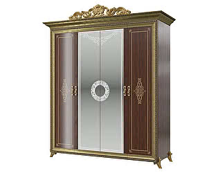 Купить шкаф Мэри-Мебель Версаль СВ-01К 4-х дверный с короной № 3