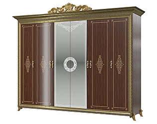 Купить шкаф Мэри-Мебель Версаль СВ-02К 6-ти дверный с короной № 3