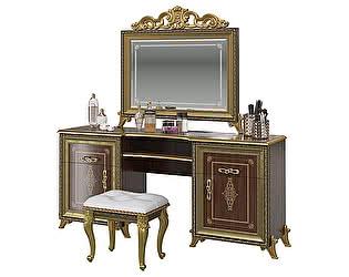 Купить стол Мэри-Мебель Версаль СВ-07 + Зеркало СВ-08К с короной + Пуф СВ-09