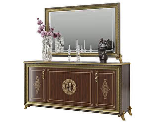 Купить комод Мэри-Мебель Версаль ГВ-05 4-х дверный + зеркало ГВ-06 без короны
