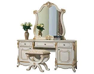 Купить стол Юг-Мебель Мона Лиза с пуфиком и зеркалом