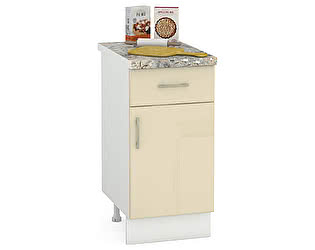 Купить стол Mobi Сандра 400 1 ящик + 1 дверь, ШхГхВ 40х52х81 см., универсальная дверь