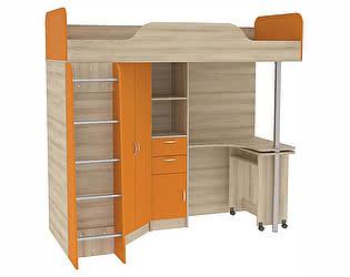 Купить кровать Mobi Ника чердак со столом 427 (80)