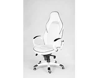 Купить кресло Норден Мустанг Х (белый/черная строчка)
