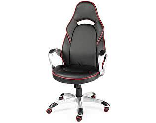 Купить кресло Норден Мустанг Х (черный/красная строчка)