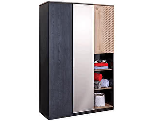 Купить шкаф Cilek Black 3-х дверный
