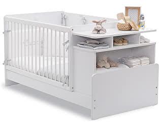 Купить кровать Cilek Baby Cotton с полками