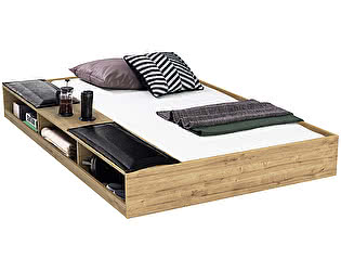Купить кровать Cilek Wood Metal с полками 90х190