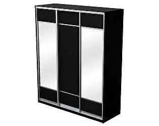 Купить шкаф Орма-мебель Como/Veda 3х дверный (купе) ЛДСП 2 зеркала