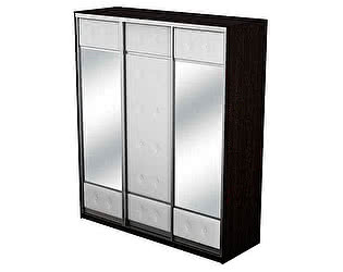 Купить шкаф Орма-мебель Неро/Сезия 3х дверный (купе) с двумя зеркалами