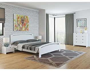 Купить кровать Орма-мебель Веста 1-М-R сосна (белый, слоновая кость)