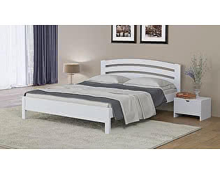 Купить кровать Орма-мебель Веста 2-тахта-R береза (белый, слоновая кость)