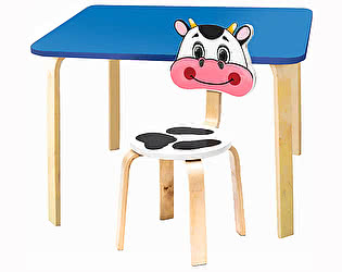 Купить стол Polli Tolli Комплект детской мебели Мордочки с голубым столиком