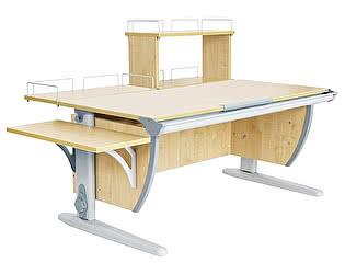 Купить стол Дэми СУТ 15-02Д (парта 120 см+задняя приставка+двухъярусная задняя приставка+боковая приставка)
