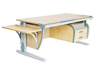 Купить стол Дэми СУТ 15-03К (парта 120 см +подвесная тумба) + боковая полка