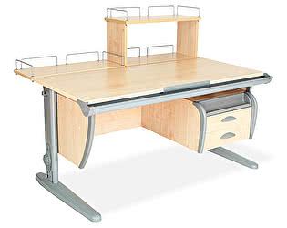 Купить стол Дэми СУТ 15-04Д (парта 120 см+задняя приставка+двухъярусная задняя приставка+подвесная тумба)