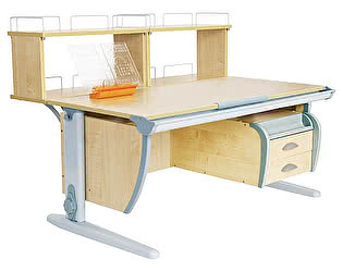 Купить стол Дэми СУТ 15-04Д2 (парта 120 см+две двухъярусные задние приставки+подвесная тумба)