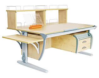 Купить стол Дэми СУТ 15-05Д2 (парта 120 см+две двухъярусные задние приставки+боковая приставка+подвесная тумба)