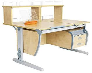 Купить стол Дэми СУТ 17-04Д2 (парта 120 см+две задние двухъярусные приставки+подвесная тумба)