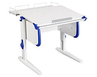 Купить стол Дэми WHITE СТАНДАРТ СУТ-24-01 с задней приставкой