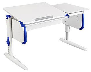 Купить стол Дэми для детей СУТ-25 WHITE DOUBLE с раздельной столешницей