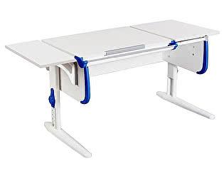 Купить стол Дэми СУТ-25К WHITE DOUBLE с раздельной столешницей и боковой приставкой