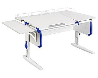 Купить стол Дэми СУТ-25-02 WHITE DOUBLE с раздельной столешницей, боковой и двумя задними приставками