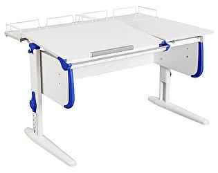 Купить стол Дэми СУТ-25-01 WHITE DOUBLE с раздельной столешницей и двумя задними приставками