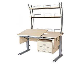 Купить стол Астек ТВИН-2 с надстройкой и тумбой (парта) для дома