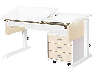 Купить стол Астек Лидер с выдвижным органайзером и тумбой на 3 ящика