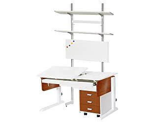 Купить стол Астек Лидер с выдвижным органайзером, тумбой на 3 ящика и стеллажом