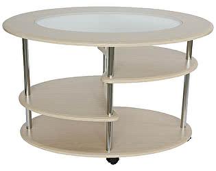 Купить стол Калифорния мебель Эллипс со стеклом