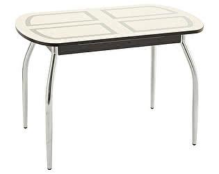 Купить стол Кубика Портофино-1 рисунок (ноги хром) кухонный