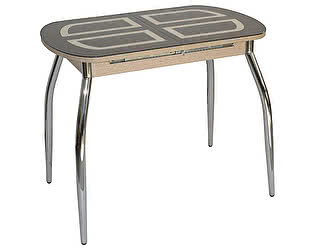 Купить стол Кубика Портофино-мини Рис-1 (ноги хром) кухонный