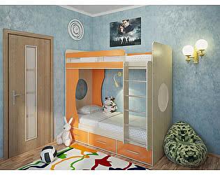 Купить кровать Милана Милана-1 Дуб молочный двухъярусная