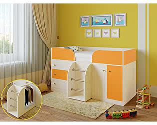 Купить кровать РВ Мебель чердак Астра-5 Дуб Молочный