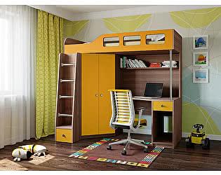 Купить кровать РВ Мебель чердак Астра-7 Дуб Шамони